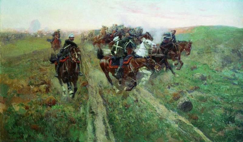 Cholok 강과 Kuryuk-Dar에서 전투에서 터키 군대의 패배
