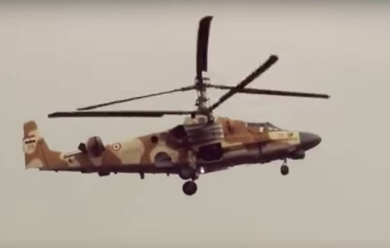 "The photo from the cabin of Ka-52 ""Nile crocodile"" was released"