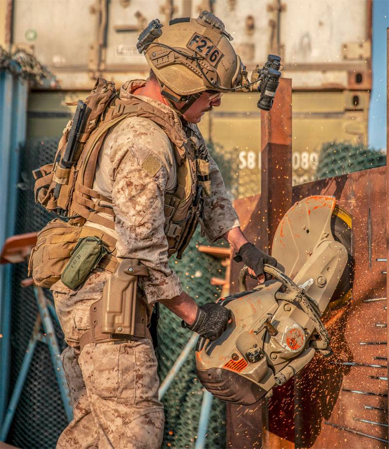 "the US command said about training Marines with a saw-""grinder"""