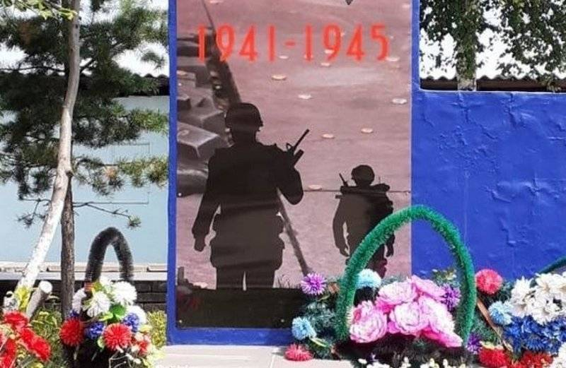 In the Amur region on the monument of the second world war depicted soldiers of NATO