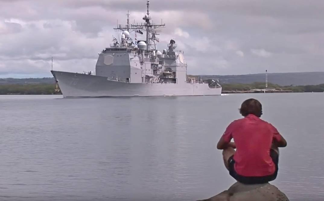 Американские боевые корабли не пустили в Гонконг