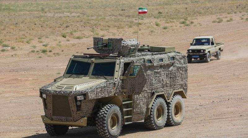 "Iran presented a new armored vehicle ""Raad"" 6X6"