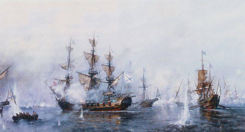 Ruhmreicher Sieg der russischen Flotte bei Rochensalm