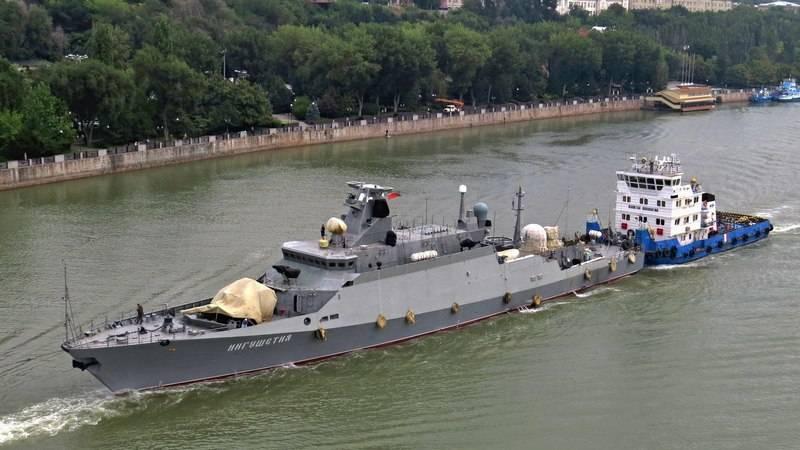 "Projeto MRK ""Ingushetia"" 21631 transferido para o Mar Negro para testes"