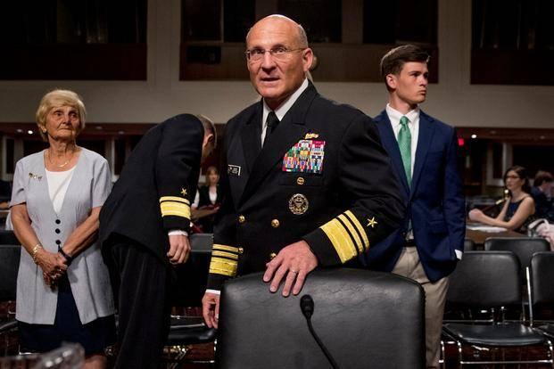 Le nouveau commandant de la marine américaine. De vice amiral à commandant