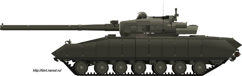 the peculiarities of Russian tanks with guns of 152 mm calibre