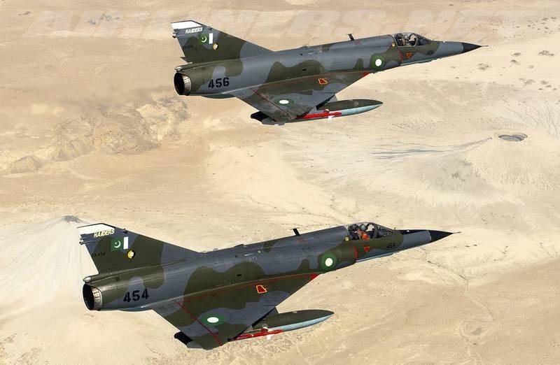 Paquistão pretende comprar um lote de caças Mirage-5 desativados do Egito