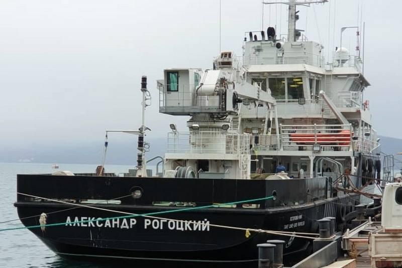 """Le navire hydrographique du projet 19910 """"Alexander Rogotsky"""" est devenu une partie de la flotte du Pacifique"""