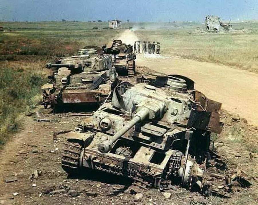 Фото подбитых немецких танков второй