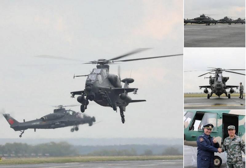 В аэропорту Челябинска приземлились китайские боевые вертолёты