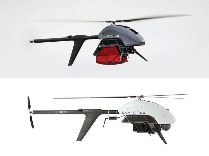 Na exposição DSEI-2019, são apresentados os drones Vapor 35 e Vapor 55 para o mercado europeu