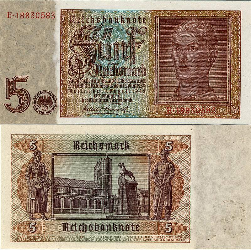 Third Reich №8 Germany 10 REICHSMARK 1941 Adolf Hitler