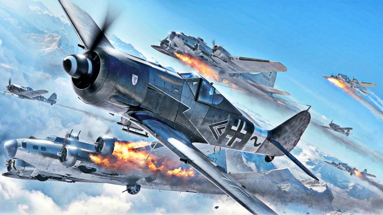 Обои german airplane, ww2, painting.aviation, Fw 190 d-9, bomber hunter, war. Авиация foto 8