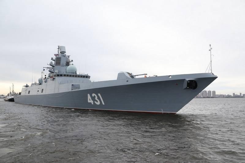 """Fregatte """"Admiral Kasatonov"""" führte während der Tests Testschüsse durch"""