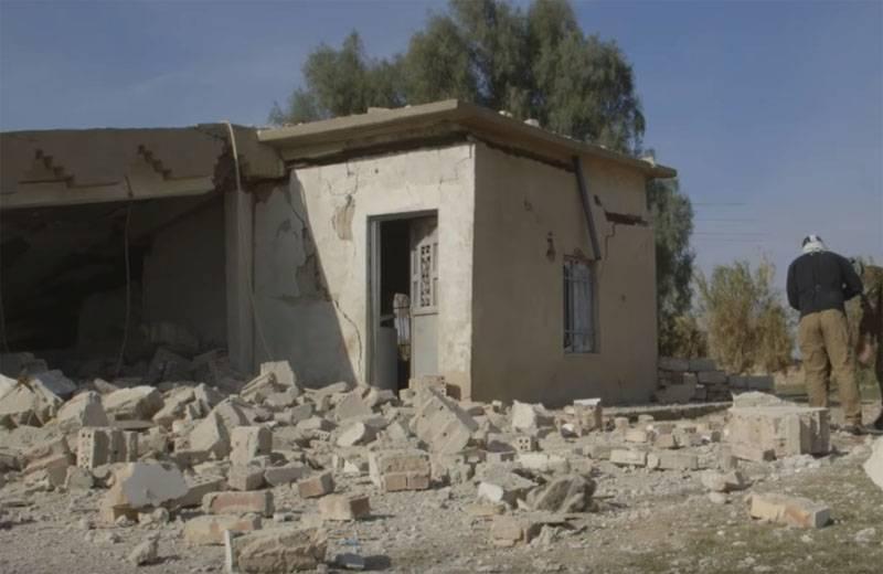 """Unidentified"" the aircraft struck Iraq's Anbar province"