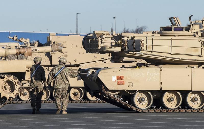 Batalhão de tanques dos EUA implantado perto da fronteira da Bielorrússia