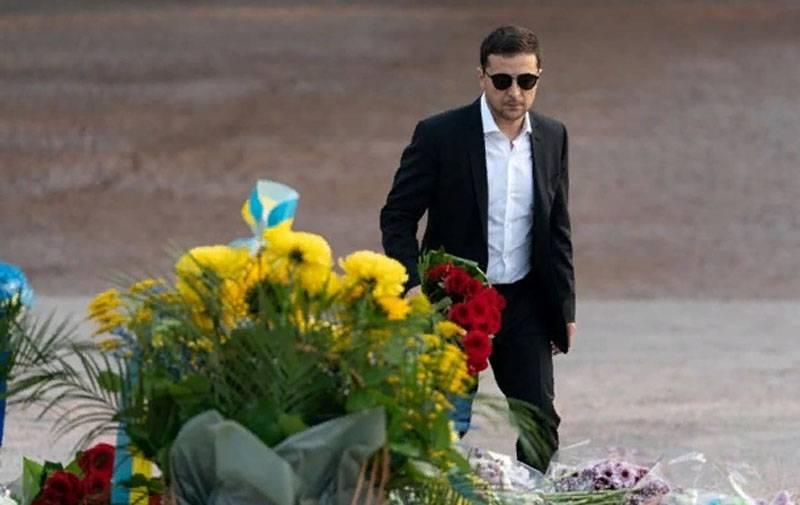 Zelensky wurde der 1-m-Präsident der Ukraine, der bei der offiziellen Zeremonie in Babi Jar nicht ankam