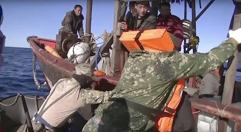 Опубликовано видео задержания северокорейских браконьеров