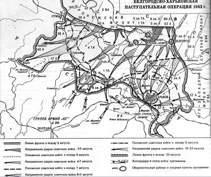 Kharkov savaşı. Yılın Ağustos 1943. Harkov'un kurtuluşu
