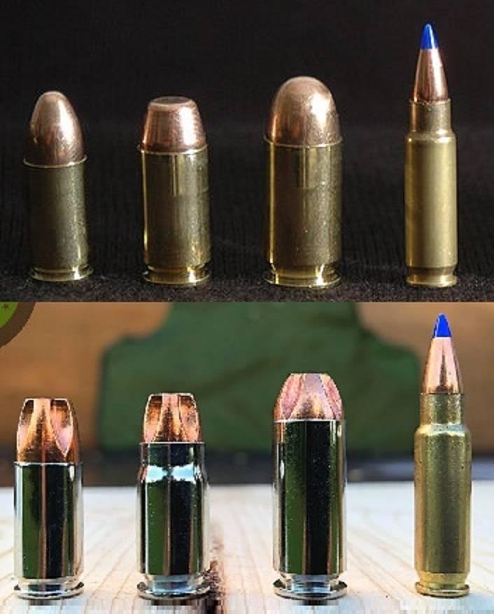 Armeepistole und Stoppwirkung von Pistolenpatronen