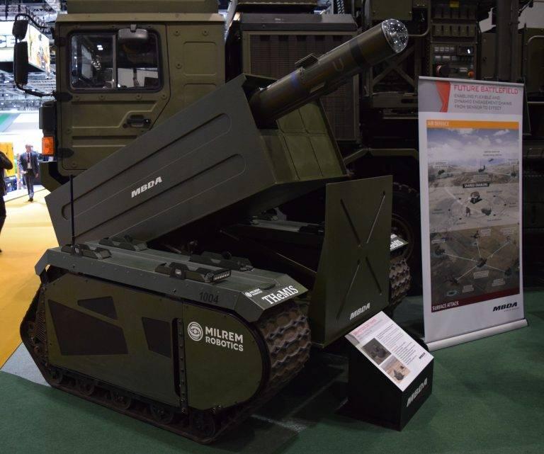 是时候上线了。 MBDA和MILREM的机器人导弹系统