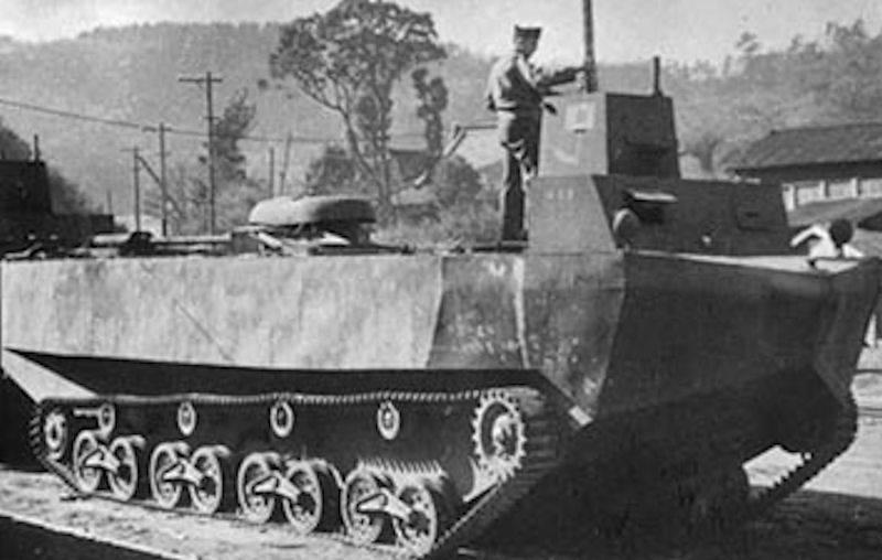 """Тип 4 """"Ка-Тсу"""". Подводнодесантируемый транспортно-диверсионный гусеничный торпедный транспортёр"""