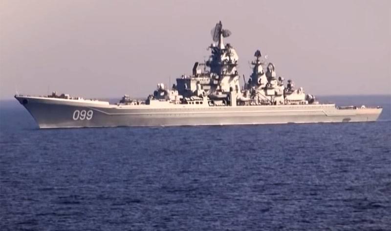 下院議員、米国海軍のハガキに巡洋艦ピーター大王の写真を祝福