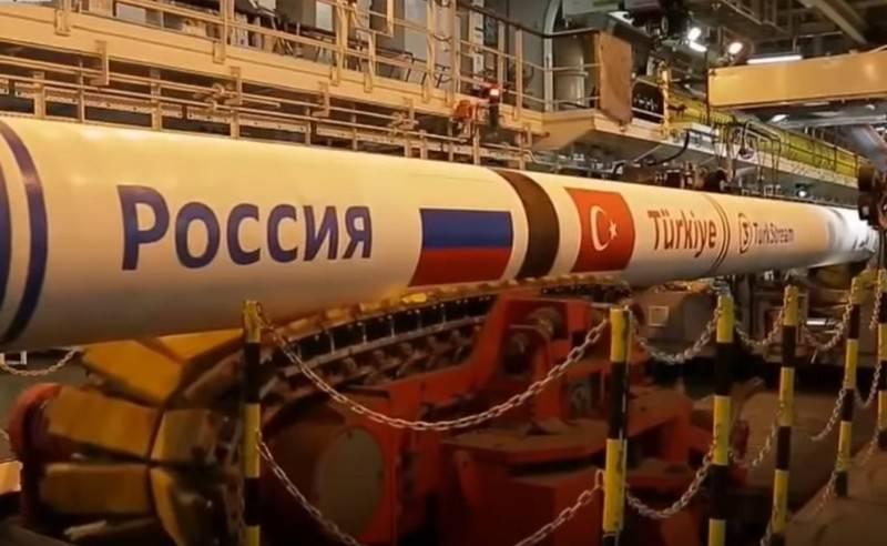 A primeira cadeia do gasoduto Turkish Stream começou a ser preenchida com gás