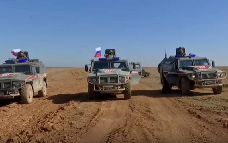 A polícia militar da Federação Russa começou a patrulhar a linha de demarcação em Manbij