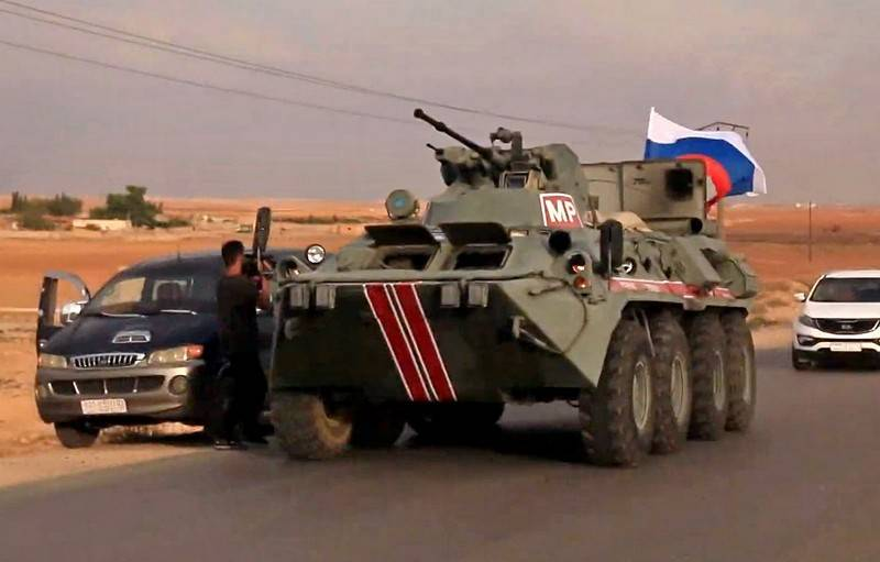 A company of Russian military police entered Kobani in northern Syria