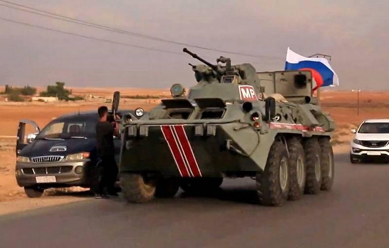 Uma companhia da polícia militar russa entrou em Kobani no norte da Síria
