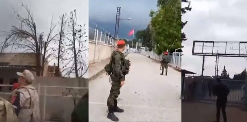 उत्तरी सीरिया में रूसी संघ की सैन्य पुलिस की गश्त के दौरान एक विस्फोट के साथ शॉट थे