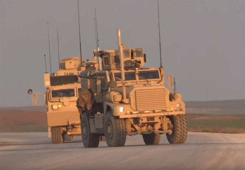 """Auf dem Territorium von Syrien """"verlor"""" der Konvoi der US-Armee"""