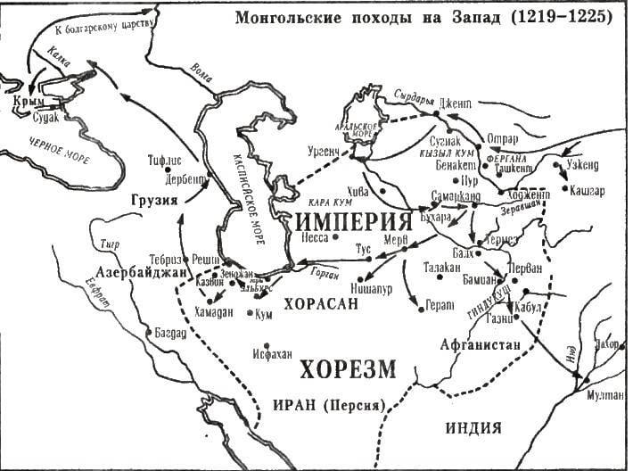 ジンギスカンとホレズムの帝国。 侵略