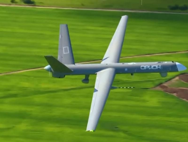 Após testes na Síria, o Orion UAV entrou em operação experimental de combate nas Forças Aeroespaciais da Rússia