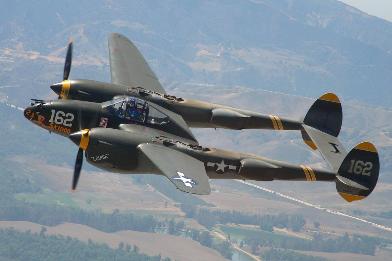 Обои локхид p-38, самолеты, американские. Авиация foto 18