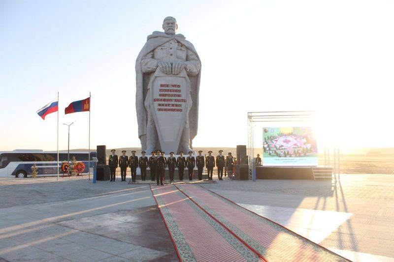"In Mongolia, opened the memorial complex ""Glory to the Russian soldier"""