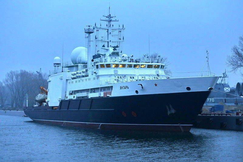 """Hunter communications"": the Russian ship ""amber"" seen on the coasts of America"