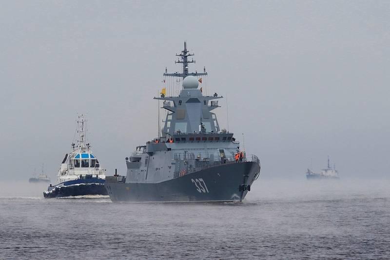 """Die """"Donnernde"""" Korvette traf in der Nordflotte ein, um sich Zustandstests zu unterziehen"""