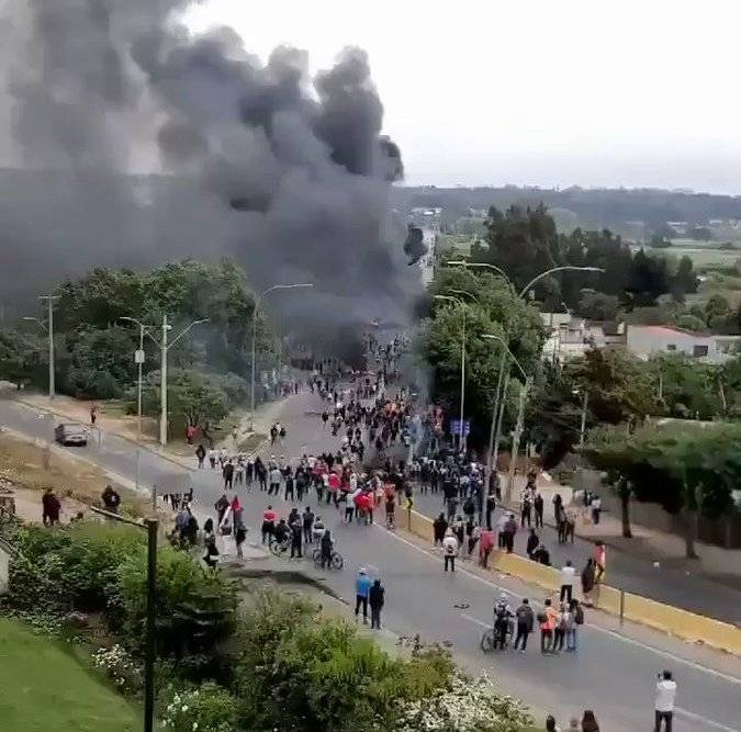 In Chile, protesters attacked a military facility