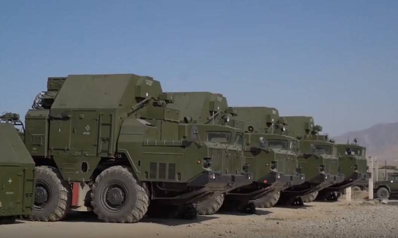 S-300PS air defense missile defense system preparing to take up combat duty in Tajikistan