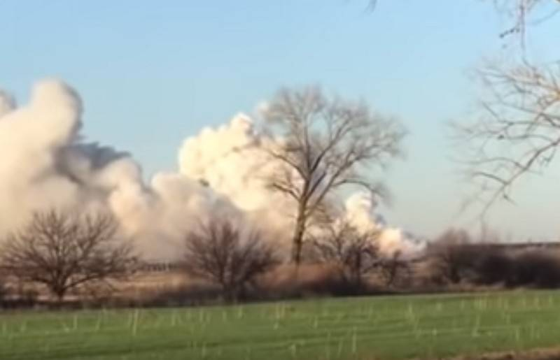Explosions boom in military depots of the Armed Forces of Ukraine near Balakleia