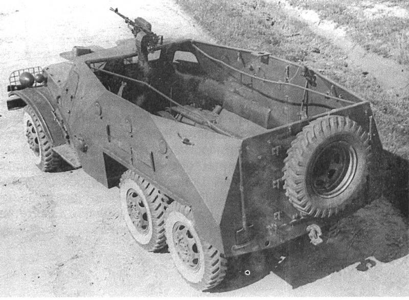 a battle-bus. BTR-152
