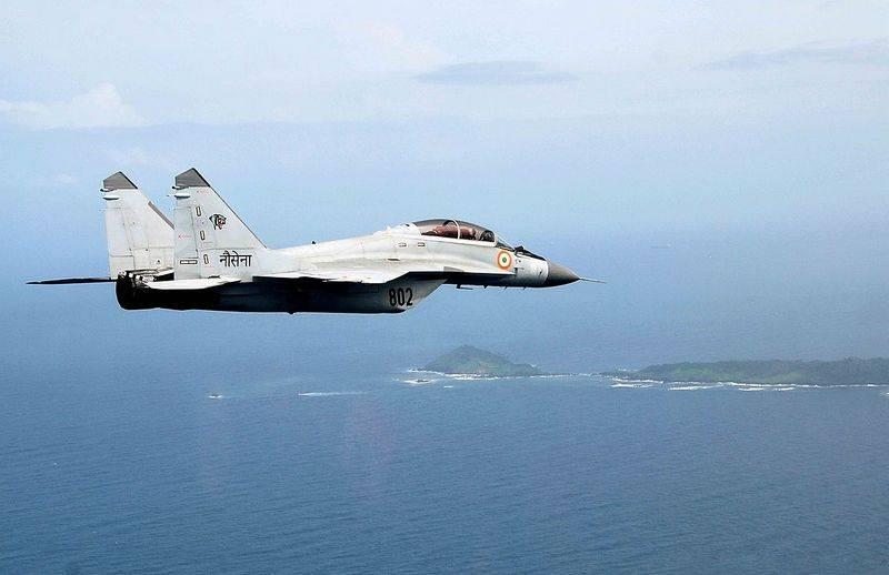 Caça MiG-29K baseado em operadora caiu na Índia
