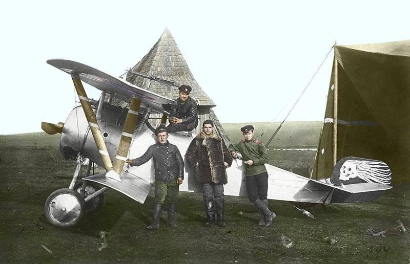 Luftschlacht des Ersten Weltkriegs. Flügel über Ostpreußen