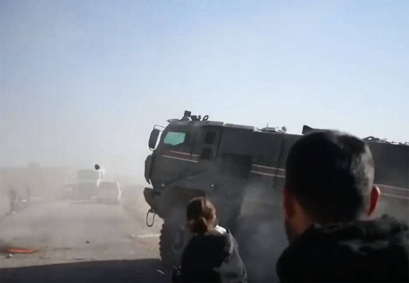"""Kurds say that an armored car of the """"Russian-Turkish patrol"""" allegedly ran into a local resident"""