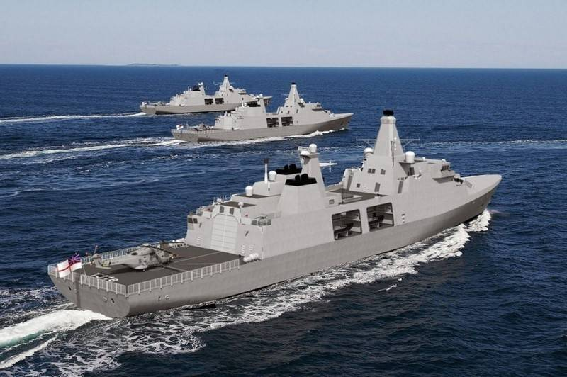 Britain lays a series of new frigates for its Navy