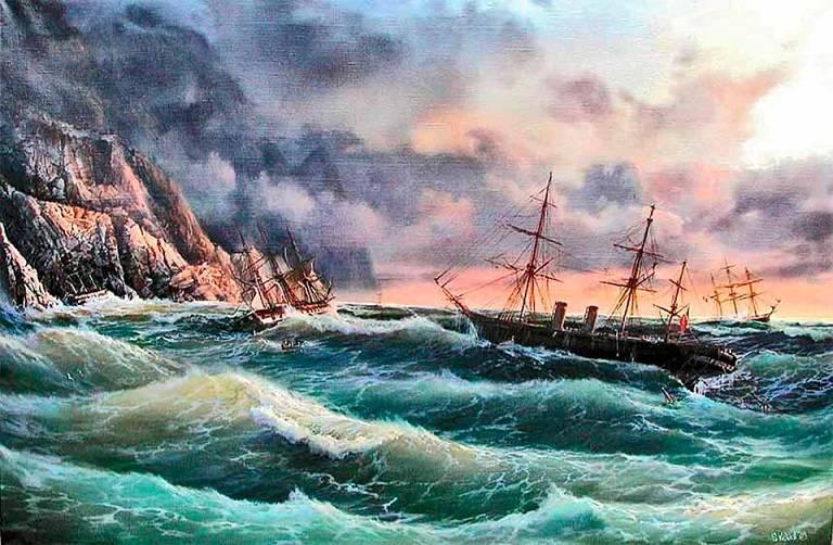 1854 का क्रीमिया तूफान तत्व बेड़ा डूब गया