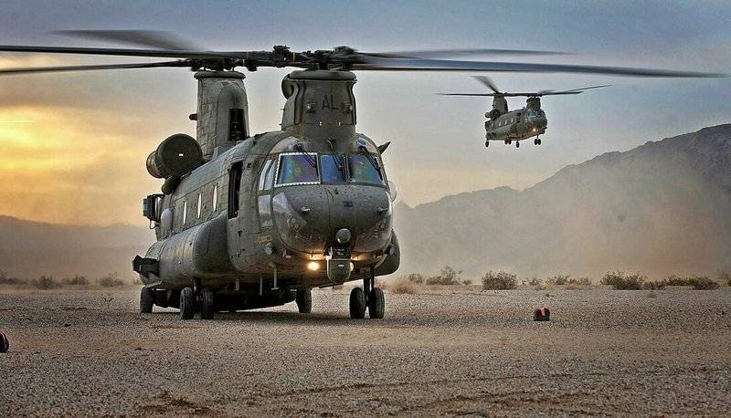 US lost helicopter and two military personnel in Afghanistan