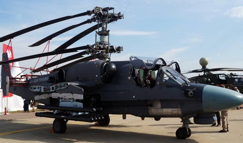 Essais navire Ka-52K continuer après la définition du transporteur